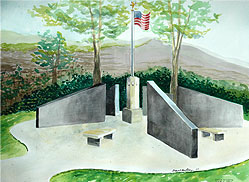 Watercolor Rendition Spearfish Veterans Monument